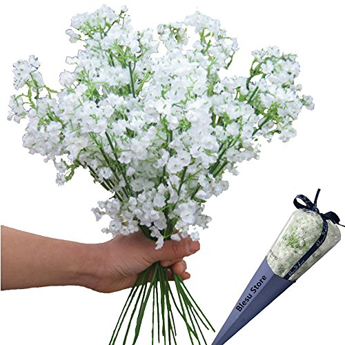 Price comparison product image 12pcs Artificial flowers Gypsophila Baby's Breath Bouquet Silk Baby Breath Flowers for Home Wedding Party Decorations Pretty Flowers