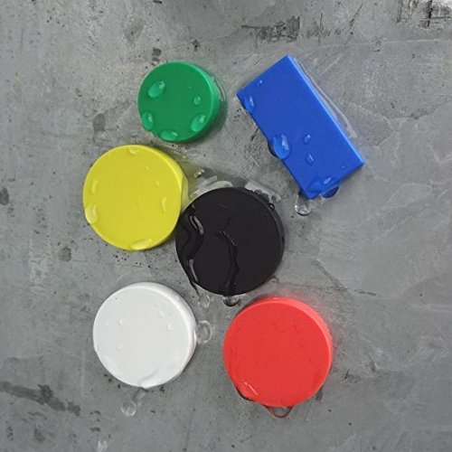 Magnetscheibe Neodym Magnet /Ø 12,7 x 6,3 mm mit Kunststoffmantel wei/ß 2 kg wasserdichter Magnet rostfrei geeignet f/ür den Au/ßenbereicht