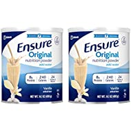 Ensure Original Nutrition Powder with 8 Grams of Protein, Meal Replacement, Vanilla, 14 Ounces (Value Pack of 2)