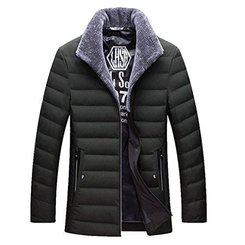 YANXH The New Men's Down jacket Winter Middle Aged Men coat , dark green , XXL by YANXH outdoors
