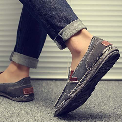 tendenza casual tela di Gray da di Gray scarpe selvaggia Color tela uomo WangKuanHome estiva 41 scarpe Scarpe da uomo denim Size scarpe wCxqnvI8