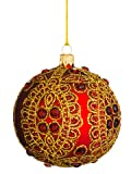 Silk Plants Direct Ball Ornament (Pack of 6)