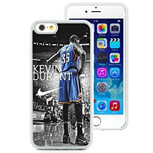 Personalized Iphone 6 Case Design with Kevin Durant Iphone 6th 4.7 Inch TPU White Cell Phone Case