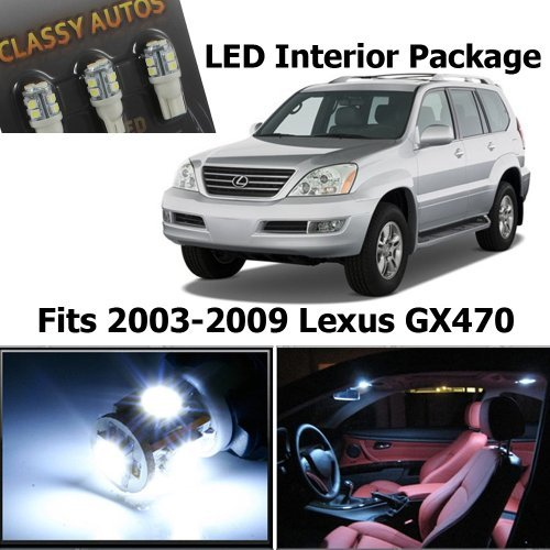 Classy Autos Lexus GX470 WHITE Interior LED Package (15 Pieces)