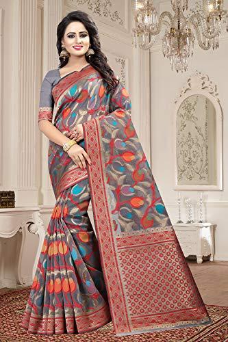 Designer Sarees Partywear Grey Women Sari Facioun Da Ethnic 5 Traditional Indian wqpEIWB