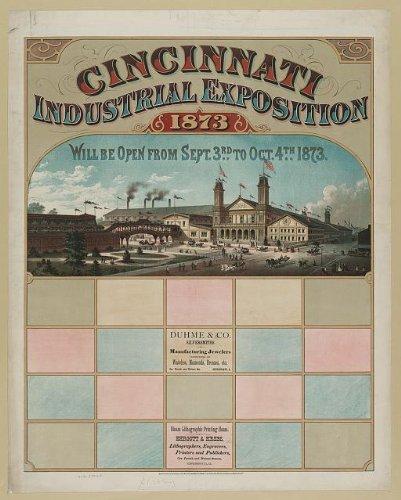 Photo: Cincinnati,Industrial exposition,1873,Ohio,OH,Hamilton County,Duhme & Co.