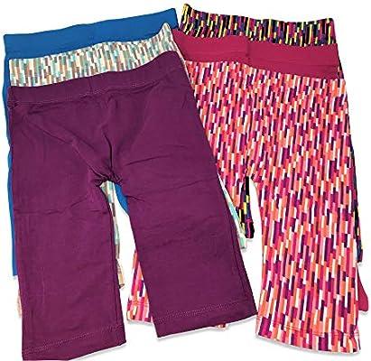 Girls Kids Cotton Stretch Bike Short//Capri Knee Length Leggings Pack of 6