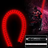 #6: Night Fire Red LED Whips 6FT Flag Pole For Polaris RZR UTV Sand Dune Buggy Quad Truck Offroad Racing Motorcycle ATV Antenna Whip (One Whip)