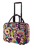 Vera Bradley Rolling Work Bag Plum Crazy