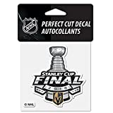 Official Vegas Golden Knights 2018 Western Conference Champions 4'' x 4'' Perfect Cut Decal