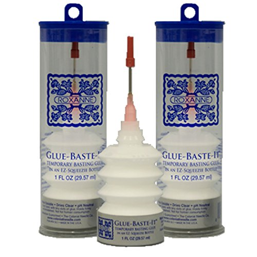 (2-Pack Bundle of Roxanne Glue Baste It EZ Squeeze 1 oz.)