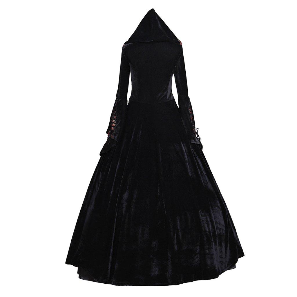 CosplayDiy Women's Deluxe Hooded Collar Victorian Dress Costume XXL by CosplayDiy (Image #4)