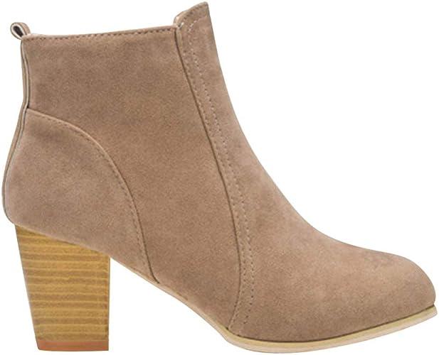 Gtagain Chaussures Femme Bottes et Bottines Femmes Bout