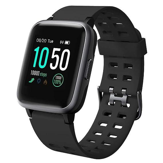 Willful Smartwatch Impermeable Reloj Inteligente con Pulsómetro, Pulsera Inteligente para Deporte con Cronómetro, Podómetro. Smartwatch Hombre Mujer ...
