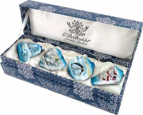 Small Christmas Bell (4 Piece Small Winter Ornament Set)