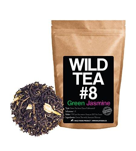 Green Jasmine Tea, Wild Tea #8 Premium Loose Leaf Green Tea with Jasmine - Organically Grown