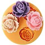 Vivian Silicone Mold 3D Flower Style Fondant Cake Baking Decorating Kits
