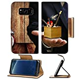 Liili Premium Samsung Galaxy S8 Flip Pu Leather Wallet Case Music college offer chance concept Music instrument box in the teacher hand Photo 18152116 Simple Snap Carrying