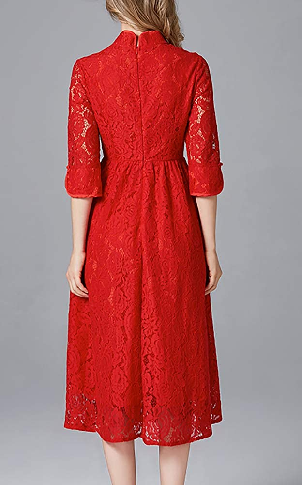 LISUEYNE Lisuyne Robe décontractée à Manches Courtes pour Femme Grande Taille Redds-14152