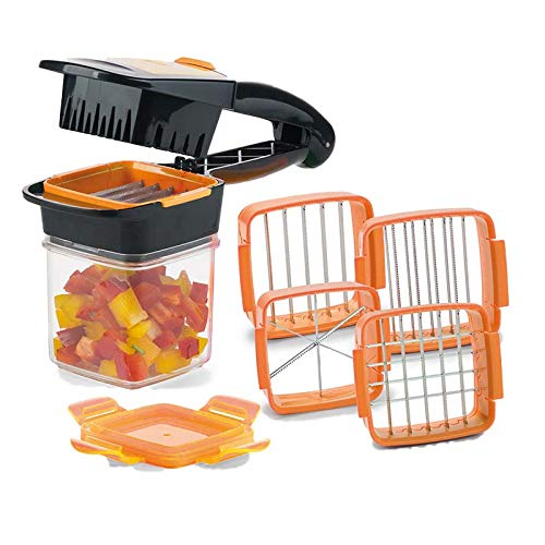 RuanTang Shredders & Slicers 4 Blades Nicer Quick Stainless Steel Vegetable Dicer Chopper Multi functional Kitchen Onion V doax0j7long12
