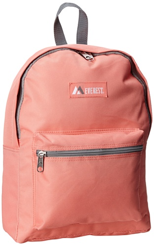 Everest Basic Backpack, Coral, One Size