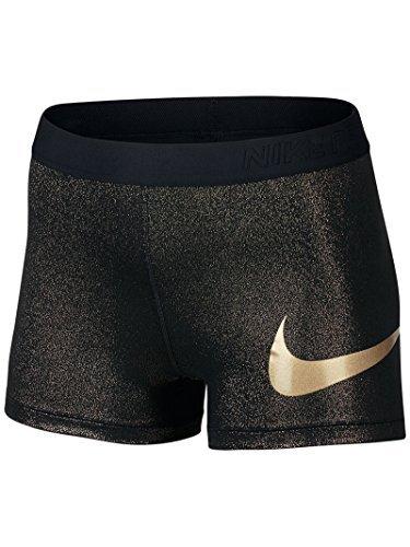 Nike Gold Training Shorts - NIKE Wom Pro 3 Energy Short XS Black/Gold