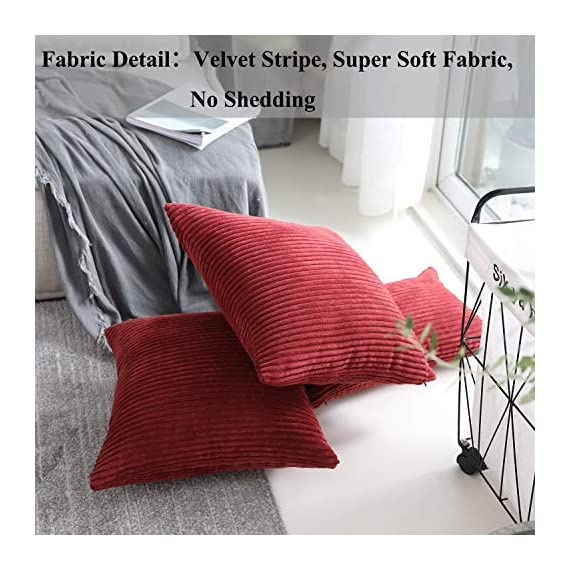 Home Brilliant 2 Packs Decorative Square Pillows Cover Outdoor Throw Pillows Cushion Covers for Chair, 16 x 16 inches, 40cm, Dark Red - FEATURES: Color: Burgundy. Measures: 16x16 inch (40x40cm), tailored for 16x16 inch insert. PACKAGE: include 2 pc cushion cover. No cushion insert. WASHING GUIDE: Machine Wash Cold Separately, Gently Cycle Only, No Bleach, Tumble Dry Low. - patio, outdoor-throw-pillows, outdoor-decor - 51Wuyz4ppyL. SS570  -