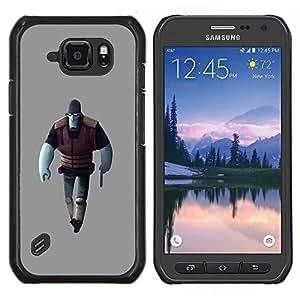 "For Samsung Galaxy S6 active / SM-G890 Case , Hombre Azul Juego de caracteres de Alien Figura Arte 3D"" - Diseño Patrón Teléfono Caso Cubierta Case Bumper Duro Protección Case Cover Funda"