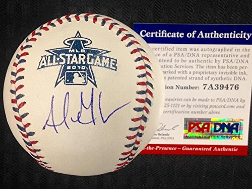 2010 All Star Baseball Ball - Adrian Gonzalez Signed 2010 All-Star Baseball PSA/DNA Witness COA Autograph Auto