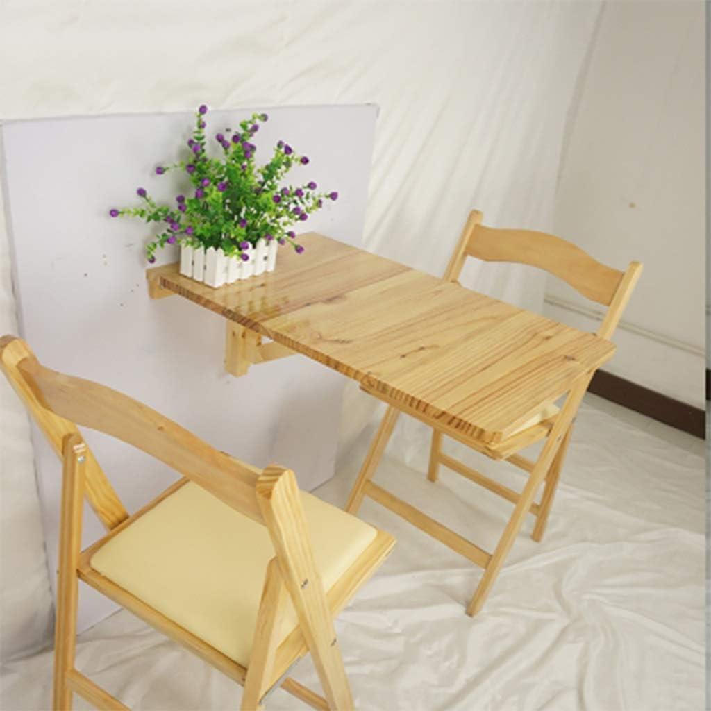 ウォールテーブルフォールドダウンドロップリーフウォールマウントテーブル-ホワイト/ウッドカラー保存スペース、70 * 45cm(色:B)