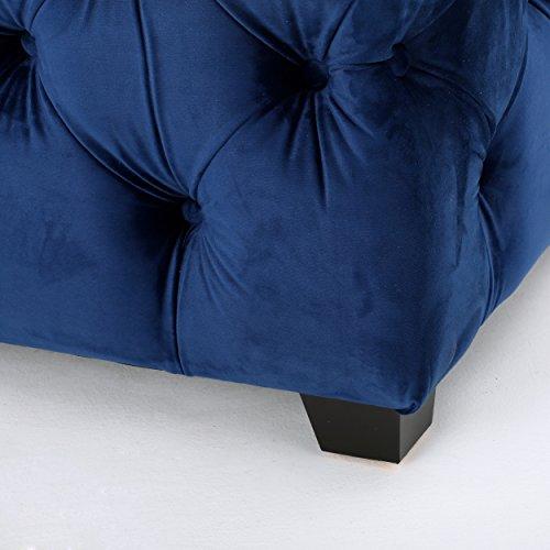 Great Deal Furniture Provence Navy Blue Tufted Velvet