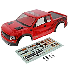 HPI 1/10 Crawler King * RED FORD F-150 SVT RAPTOR BODY SHELL, DECALS, & CLIPS *