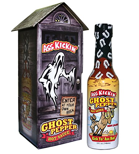 Ass Kickin' ® Ghost Pepper Hot Sauce with Haunted (Halloween Food Peppers)