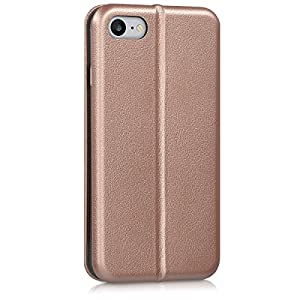 kwmobile Leatherette flip cover for Apple iPhone 7 / 8 - Full Cover Case fold-down top in rose gold