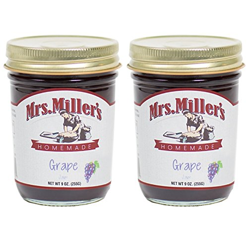 (Mrs Miller's Amish Grape Jam 9 Ounces - Pack of 2)