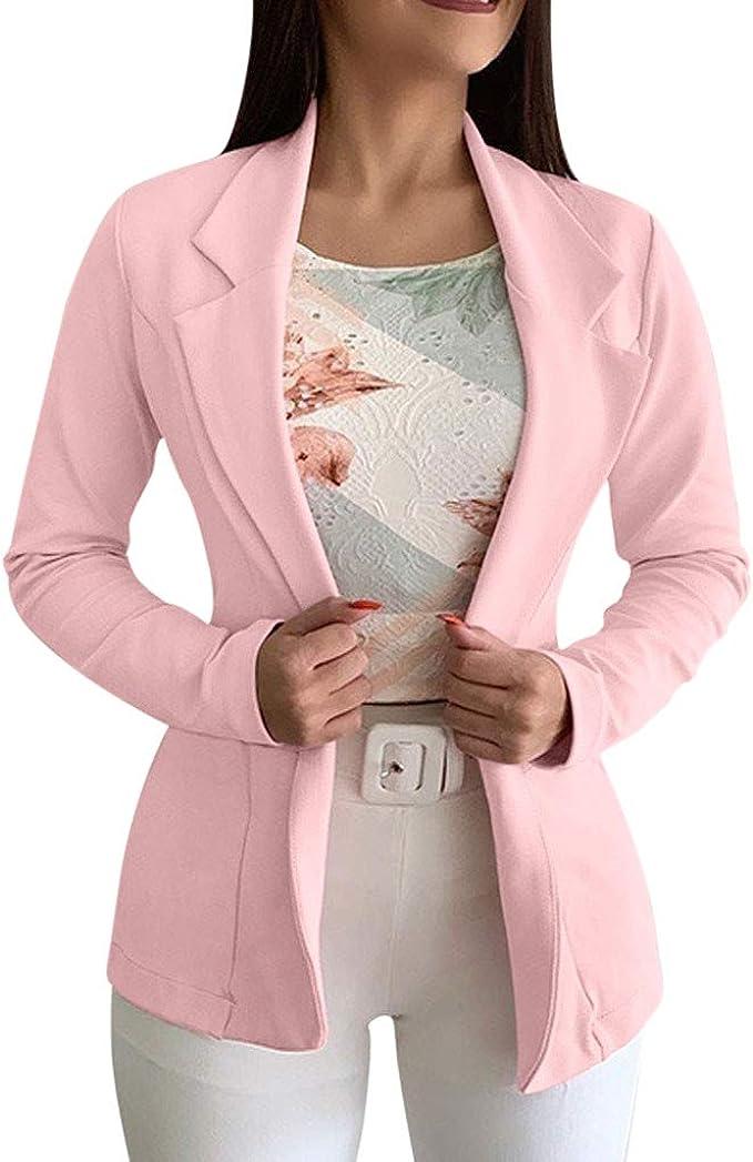 SUDADY Blazer - Chaqueta Elegante para Mujer, Corta, Sudadera ...