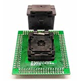 QFN24 MLF24 programming Socket to Single PCB IC Test Socket Pitch 0.5mm Chip Size 3x3mm Flash Adapter Clamshell for manual programming with Odd pad matrix QFN IC DIY programming