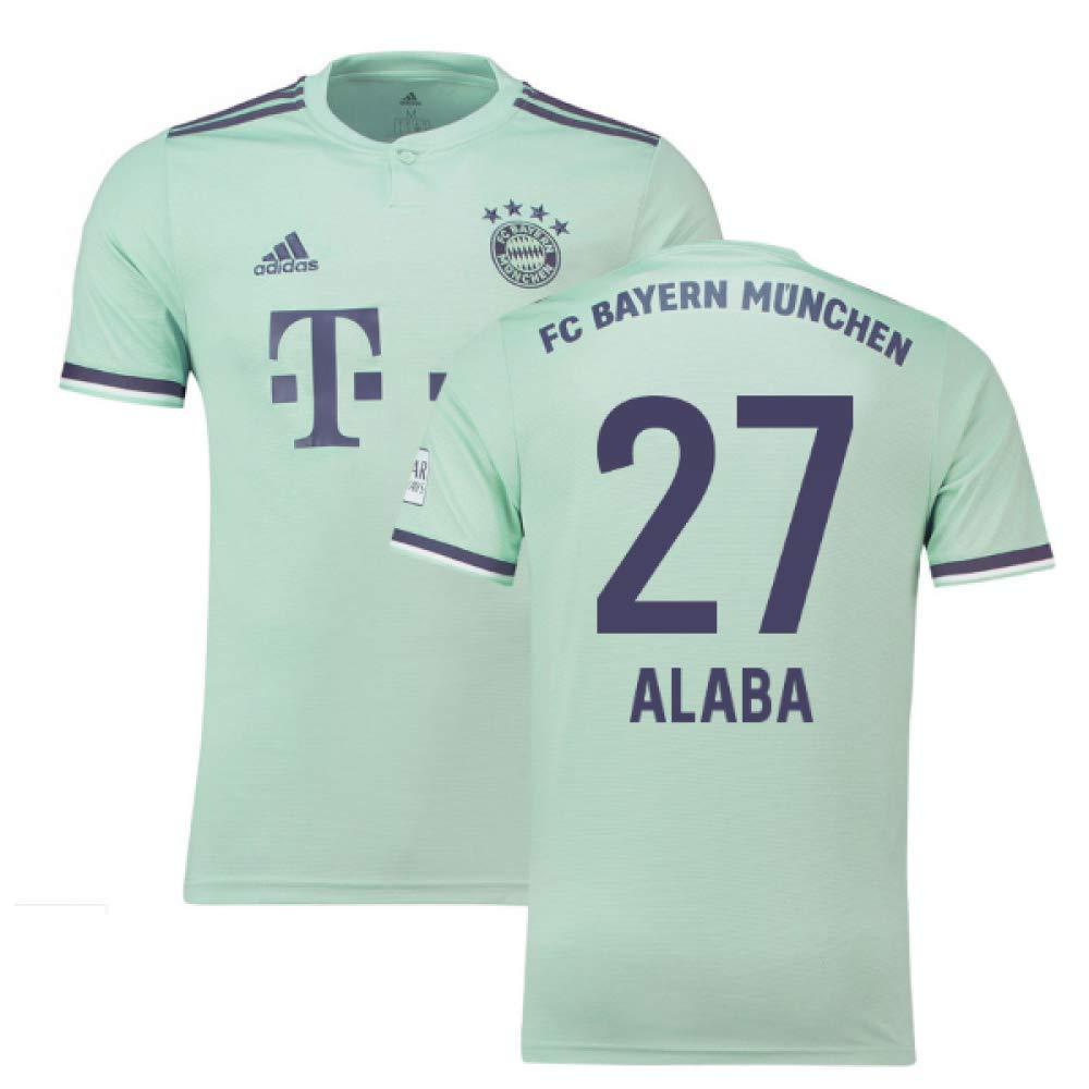 2018-19 Bayern Munich Away Football Soccer T-Shirt Trikot (David Alaba 27)