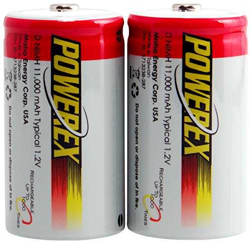 Powerex MH-2D110 Powerex D 11000mAh 2-Pack Rechargeable Batteries