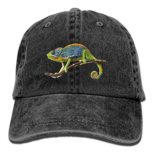 Shenigon Chameleon Premium Cowboy Baseball Caps Dad Hats Black