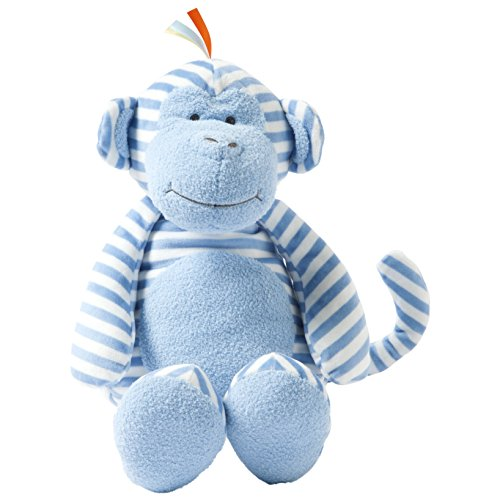 Plush Blue Monkey - Manhattan Toy Plush Baby Toy, Blue Striped Monkey, 17