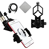 New Version with Handsfree controllor Universal Cell Phone Adapter Mount - Compatible with Binocular Monocular Spotting Scope Telescope and Microscope - For Iphone Sony Samsung Moto Etc