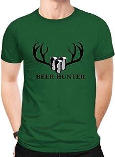 DTX T-Shirt da Uomo a Maniche Corte in Cotone Divertente e Divertente, Verde, XXL