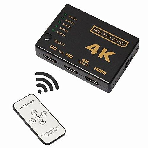 HDMI Splitter, HDMI Switch, WINONE 5-Port Intelligent High S