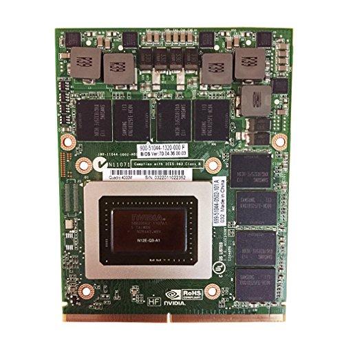 Original 2GB Graphics Video Card Replacement for HP 8770W 8760W 8740W Dell Precision M6600 M6700 Mobile Workstation Laptop NVIDIA Quadro 4000M GDDR5 MXM VGA Board Repair Parts