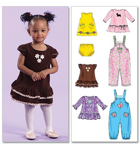 - McCalls Pattern 5916 Infants' Dresses, Overalls And Panties