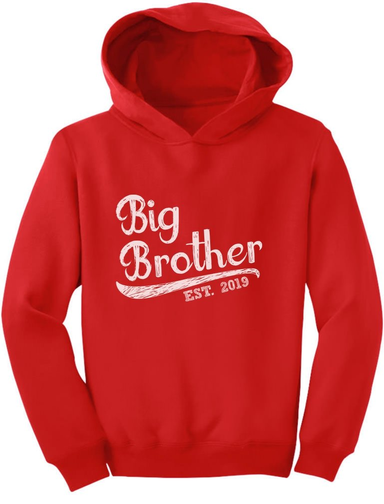 Tstars - Gift for Big Brother 2019 Siblings Gift Toddler Hoodie GaMPthhgvm
