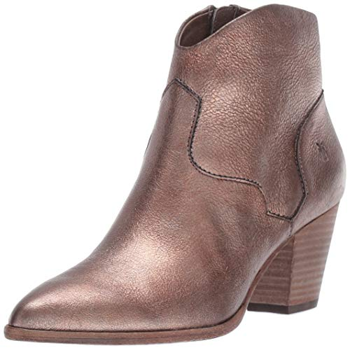 FRYE Women's Reed Bootie Ankle Boot Golden Silver 7.5 M US