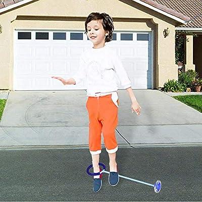 FOONEE Anillo de Salto Intermitente Juguete Deportivo para Adultos y ni/ños Pelota de Swing Cuerda de Saltar Deportiva Colorido para Saltar al Tobillo