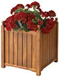 DMC Products 70417 20-Inch Lexington Square Solid Wood Planter, Teak Oil Review